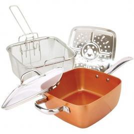 Tigaie multifunctionala patrată din cupru square pan