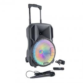 Boxa portabila iluminata led 70w cu bluetooth, usb, sd, radio fm