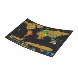 Harta razuibila a lumii deluxe, 82,5 x 59,4 cm, negru/auriu