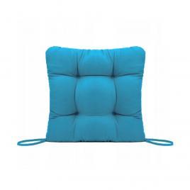 Perna decorativa pentru scaun de bucatarie sau terasa, dimensiuni 40x40cm, culoare albastru