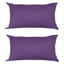 Set 2 perne decorative dreptunghiulare, 50x30 cm, pline cu puf mania relax, culoare mov