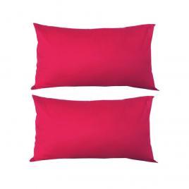 Set 2 perne decorative dreptunghiulare, 50x30 cm, pline cu puf mania relax, culoare rosu