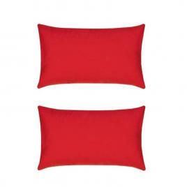 Set 2 perne decorative dreptunghiulare mania relax, din bumbac, 50x70 cm, culoare rosu