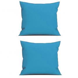 Set 2 perne decorative patrate, 40x40 cm, pentru canapele, pline cu puf mania relax, culoare albastru