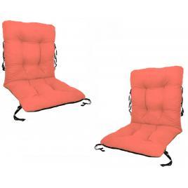 Set 2 perne sezut/spatar pentru scaun de gradina sau balansoar, 50x50x55 cm, culoare orange