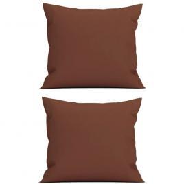 Set 2 perne decorative patrate, 40x40 cm, pentru canapele, pline cu puf mania relax, culoare maro