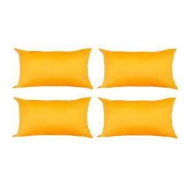 Set 4 perne decorative dreptunghiulare, 50x30 cm, pline cu puf mania relax, culoare galben