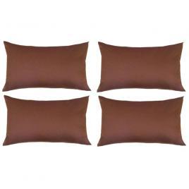 Set 4 perne decorative dreptunghiulare, 50x30 cm, pline cu puf mania relax, culoare maro