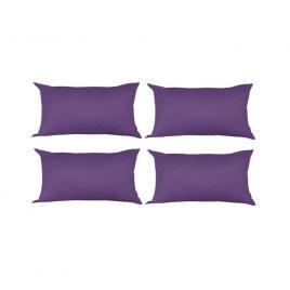Set 4 perne decorative dreptunghiulare, 50x30 cm, pline cu puf mania relax, culoare mov