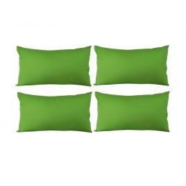 Set 4 perne decorative dreptunghiulare, 50x30 cm, pline cu puf mania relax, culoare verde