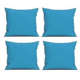 Set 4 perne decorative patrate, 40x40 cm, pentru canapele, pline cu puf mania relax, culoare albastru