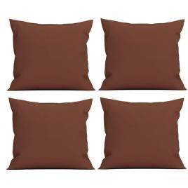 Set 4 perne decorative patrate, 40x40 cm, pentru canapele, pline cu puf mania relax, culoare maro