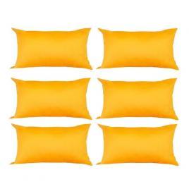 Set 6 perne decorative dreptunghiulare, 50x30 cm, pline cu puf mania relax, culoare galben