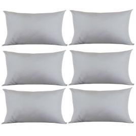 Set 6 perne decorative dreptunghiulare, 50x30 cm, pline cu puf mania relax, culoare gri