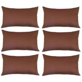 Set 6 perne decorative dreptunghiulare, 50x30 cm, pline cu puf mania relax, culoare maro
