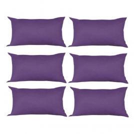 Set 6 perne decorative dreptunghiulare, 50x30 cm, pline cu puf mania relax, culoare mov