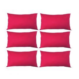 Set 6 perne decorative dreptunghiulare, 50x30 cm, pline cu puf mania relax, culoare rosu
