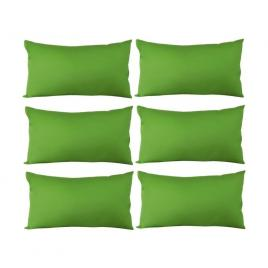 Set 6 perne decorative dreptunghiulare, 50x30 cm, pline cu puf mania relax, culoare verde