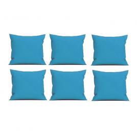 Set 6 perne decorative patrate, 40x40 cm, pentru canapele, pline cu puf mania relax, culoare albastru