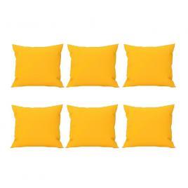 Set 6 perne decorative patrate, 40x40 cm, pentru canapele, pline cu puf mania relax, culoare galben