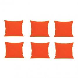 Set 6 perne decorative patrate, 40x40 cm, pentru canapele, pline cu puf mania relax, culoare orange