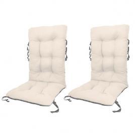 Set perne pentru scaun de gradina sau sezlong,  48x48x75cm, culoare alb, 2 buc/set