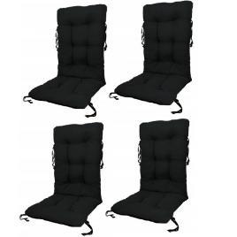 Set perne pentru scaun de gradina sau sezlong, 48x48x75cm, culoare negru, 4 buc/set