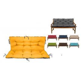 Set perne decorative pentru balansoar, leagan sau bancuta, perna sezut 180x55 + perna spate 180x55, culoare galben