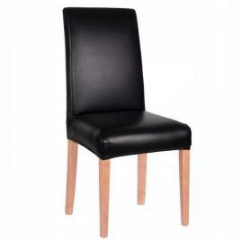Husa scaun dining/bucatarie, imitatie piele si spandex, culoare negru