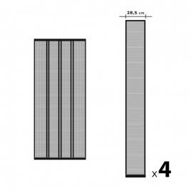 Perdea - plasa anti-tantari pentru usa, 4 benzi, max. 100 x 220 cm, negru