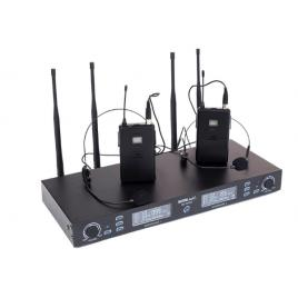 Sistem radio microfon 2 canale, cu 2 microfoane wireless headset, PLL/UHF, True Diversity, BE5035T