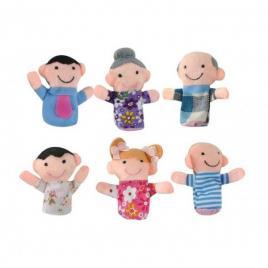 Set 6 marionete din plus pentru degete, membrii familiei