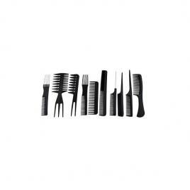 Set pentru frizerie si coafor, 10 piese, negru