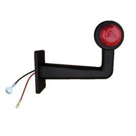 Lampa gabarit auto bestautovest 12v/ 24v, cu brat de 165mm, unghi 90 grade, stanga/ dreapta, rosu- alb kft auto