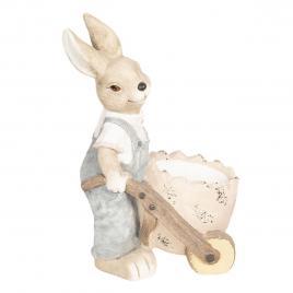 Figurina iepuras paste boy din ceramica 32 cm x 24 cm x 49 h