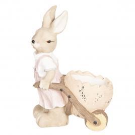 Figurina iepuras paste girl din ceramica 34 cm x 22 cm x 49 h