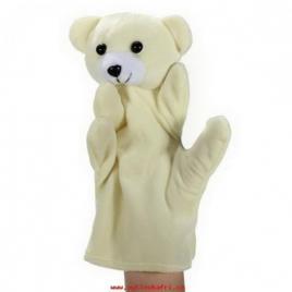 Marioneta de mana model animalut, 23.5 cm alb