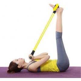 Banda elastica multifunctionala tonifiere brate /abdomen / piept / picioare Negru