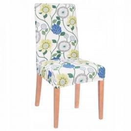Husa scaun dining/bucatarie, din spandex, model floral, multicolor