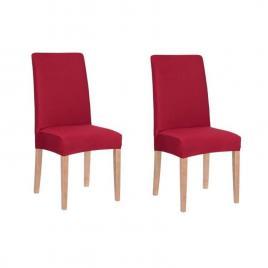 Set 2 huse pentru scaun dining/bucatarie, din spandex, culoare rosu