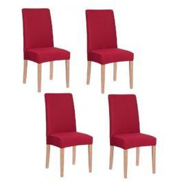 Set 4 huse pentru scaun dining/bucatarie, din spandex, culoare rosu