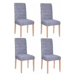 Set 4 huse scaun dining/bucatarie, din spandex, culoare albastru