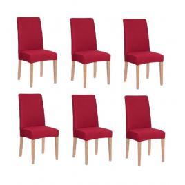 Set 6 huse pentru scaun dining/bucatarie, din spandex, culoare rosu
