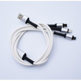 Cablu de date si incarcare 3 in 1 fast charging