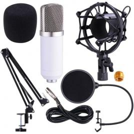 Microfon profesional de studio condenser bm-700,cu stand inclus pentru inregistrare