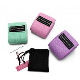 Set 3 benzi elastice pentru fitness, material textil rezistent