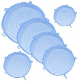 Set capace din silicon pentru vase fara capac, extensibile, reutilizabile ,...