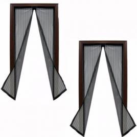Set 2 perdele magnetice antiinsecte magic mesh culoare neagra