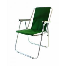 Scaun pliabil pentru interior sau exterior, cu cotiere, capacitate 100kg, culoare verde
