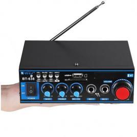 Statie amplificare audio cu bluetooth bt-638, 2 x 30 w,16 ohm, telecomanda